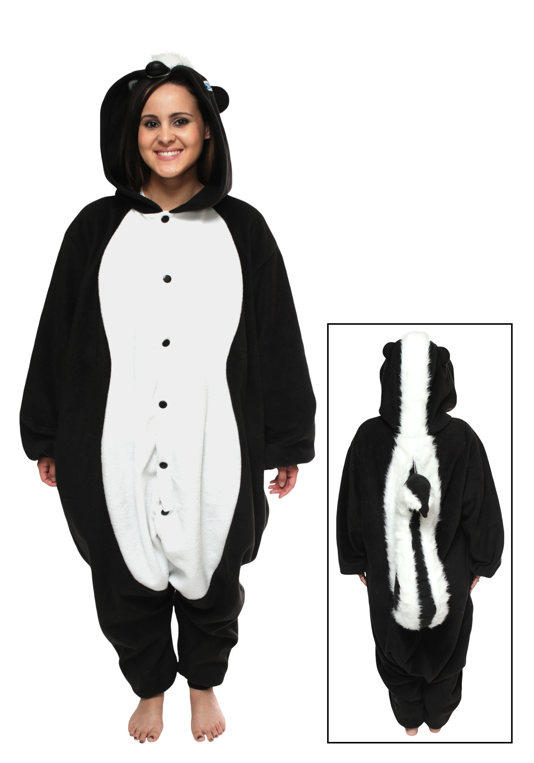 Skunk Pajama Costume  sc 1 st  Halloween Costumes : penguin halloween costume adults  - Germanpascual.Com
