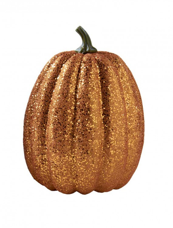 7.5'' Tall Orange Glitter Pumpkin, halloween costume (7.5'' Tall Orange Glitter Pumpkin)
