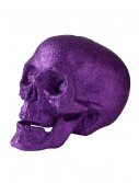 5'' Small Purple Glitter Skull, halloween costume (5'' Small Purple Glitter Skull)