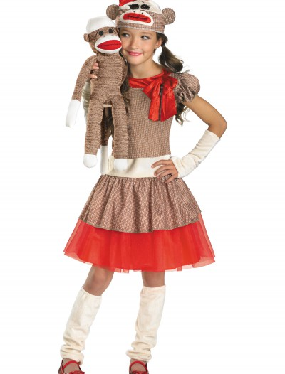 Sock Monkey Girl Costume, halloween costume (Sock Monkey Girl Costume)