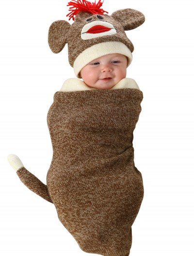 Sock Monkey Newborn Bunting, halloween costume (Sock Monkey Newborn Bunting)