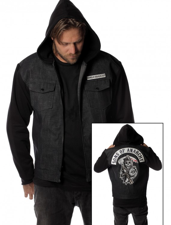 Sons of Anarchy Denim Jacket, halloween costume (Sons of Anarchy Denim Jacket)