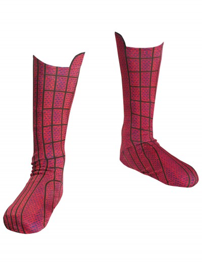 Spiderman Movie Child Boot Covers, halloween costume (Spiderman Movie Child Boot Covers)