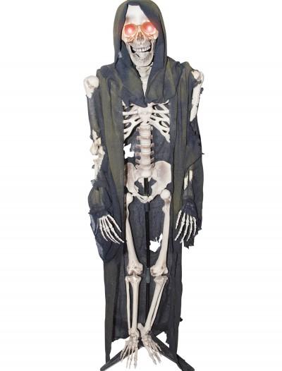 Standing Light Up Skeleton Reaper, halloween costume (Standing Light Up Skeleton Reaper)