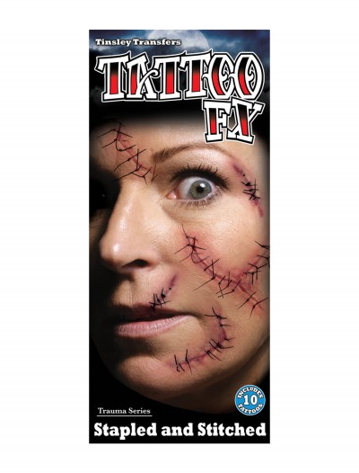 Stapled and Stitched Temporary Tattoo Kit, halloween costume (Stapled and Stitched Temporary Tattoo Kit)