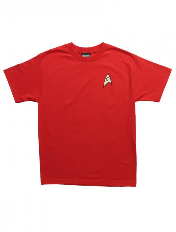 Star Trek Engineering Uniform On Red TShirt, halloween costume (Star Trek Engineering Uniform On Red TShirt)