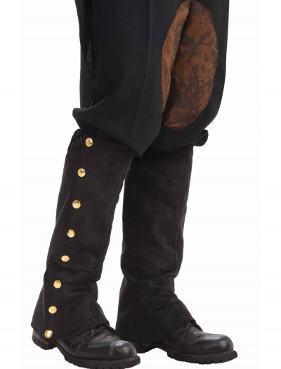 Steampunk Black Suede Spats, halloween costume (Steampunk Black Suede Spats)