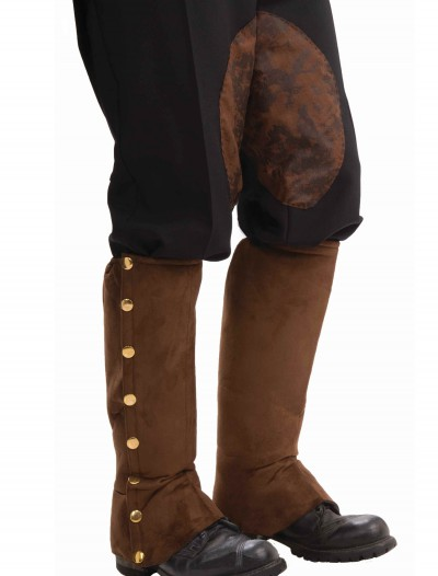 Steampunk Suede Shoe Spats, halloween costume (Steampunk Suede Shoe Spats)