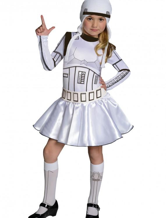 Storm Trooper Girls Dress Costume, halloween costume (Storm Trooper Girls Dress Costume)