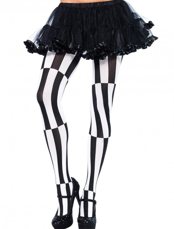 Striped Optical Illusion Tights, halloween costume (Striped Optical Illusion Tights)