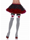 Striped Stockings with Red Heart, halloween costume (Striped Stockings with Red Heart)