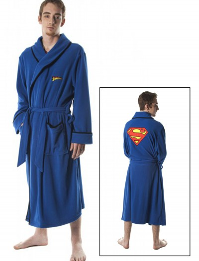 Superman Micro Polar Fleece Robe, halloween costume (Superman Micro Polar Fleece Robe)