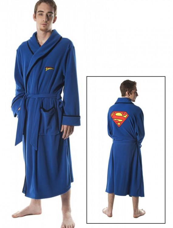 Superman Micro Polar Fleece Robe, halloween costume (Superman Micro Polar Fleece Robe)
