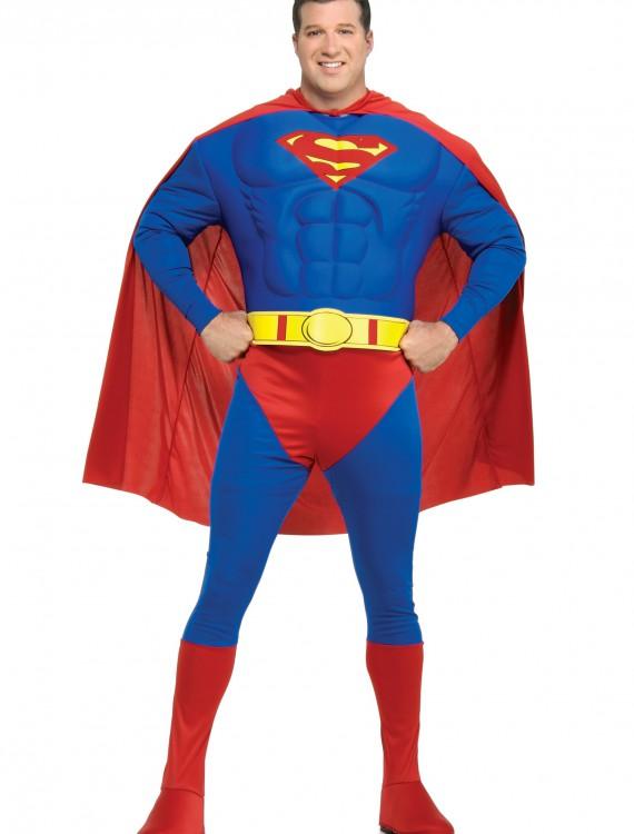 Superman Plus Size Costume, halloween costume (Superman Plus Size Costume)