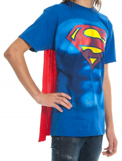 Superman S Shield Cape T-Shirt, halloween costume (Superman S Shield Cape T-Shirt)