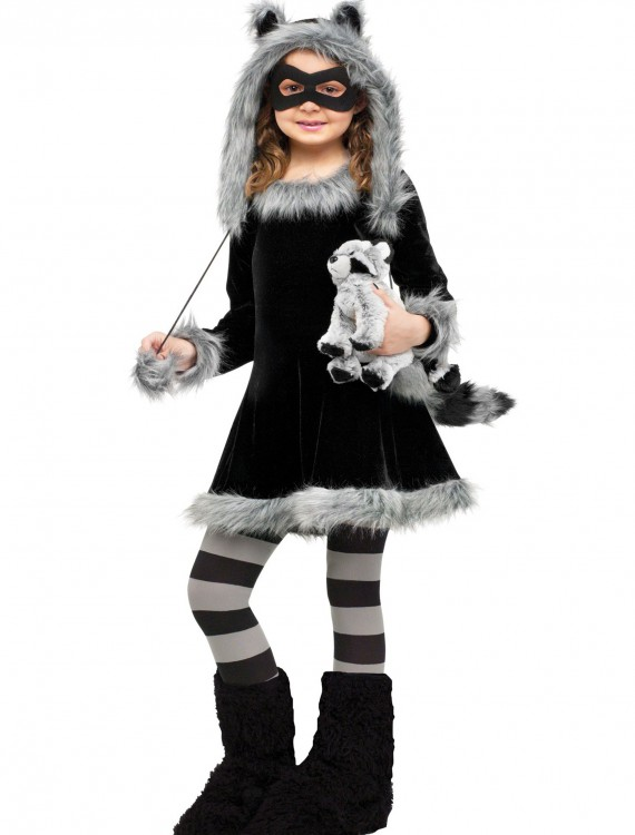 Sweet Raccoon Girls Costume, halloween costume (Sweet Raccoon Girls Costume)