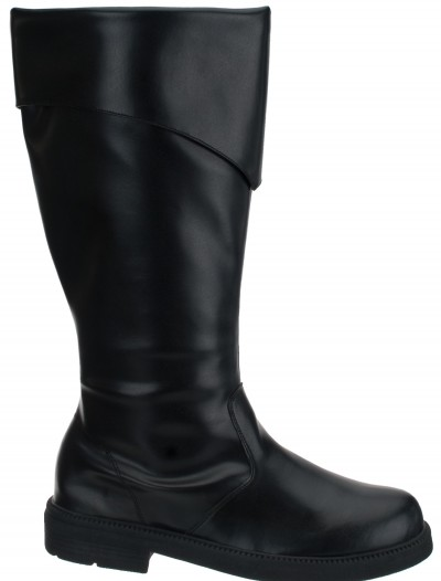 Tall Black Costume Boots, halloween costume (Tall Black Costume Boots)