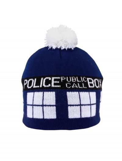 TARDIS Pom Beanie, halloween costume (TARDIS Pom Beanie)