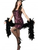 Tear Drop Plum Flapper Costume, halloween costume (Tear Drop Plum Flapper Costume)