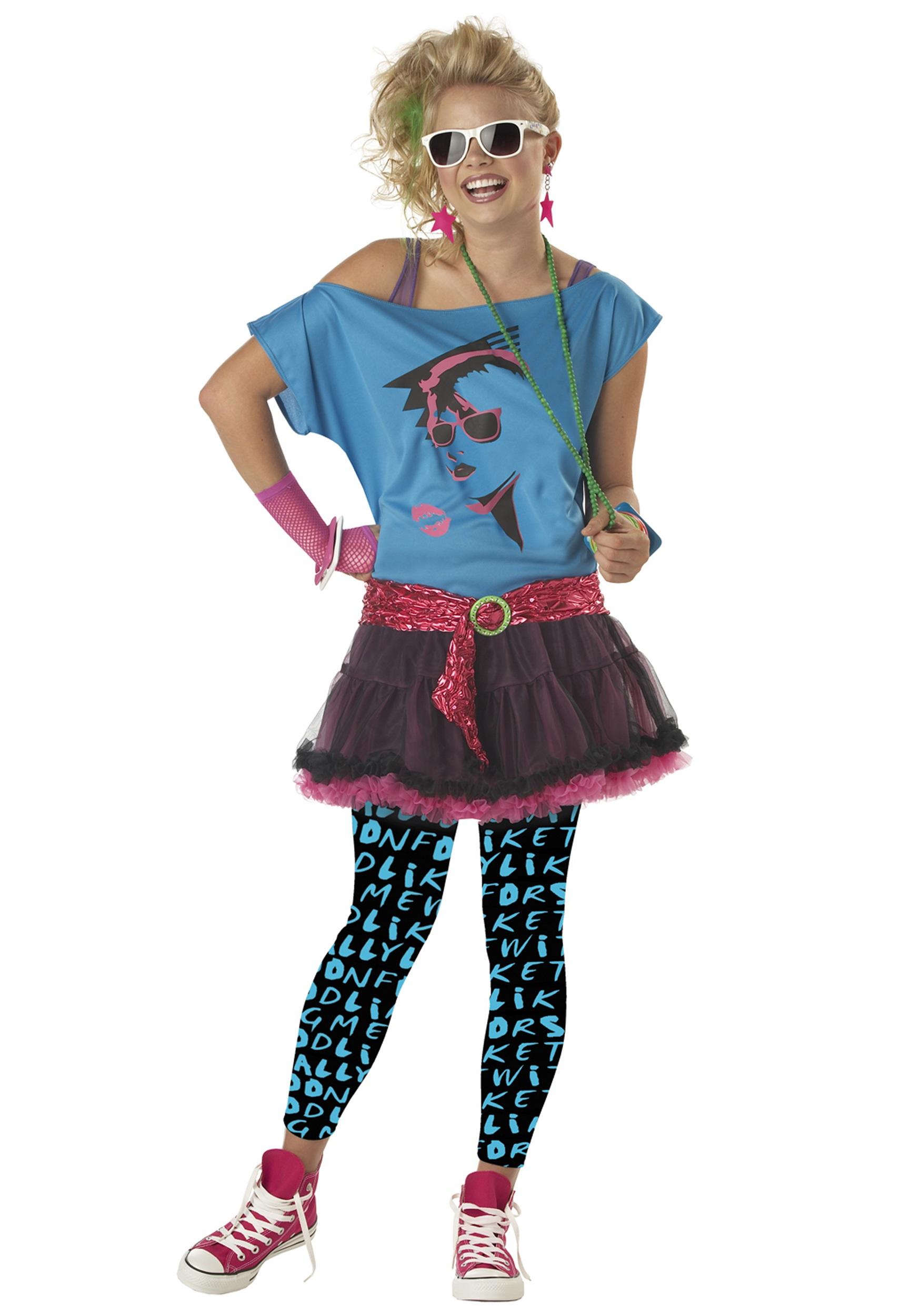 f0c7c1bd95c Teen 80s Valley Girl Costume