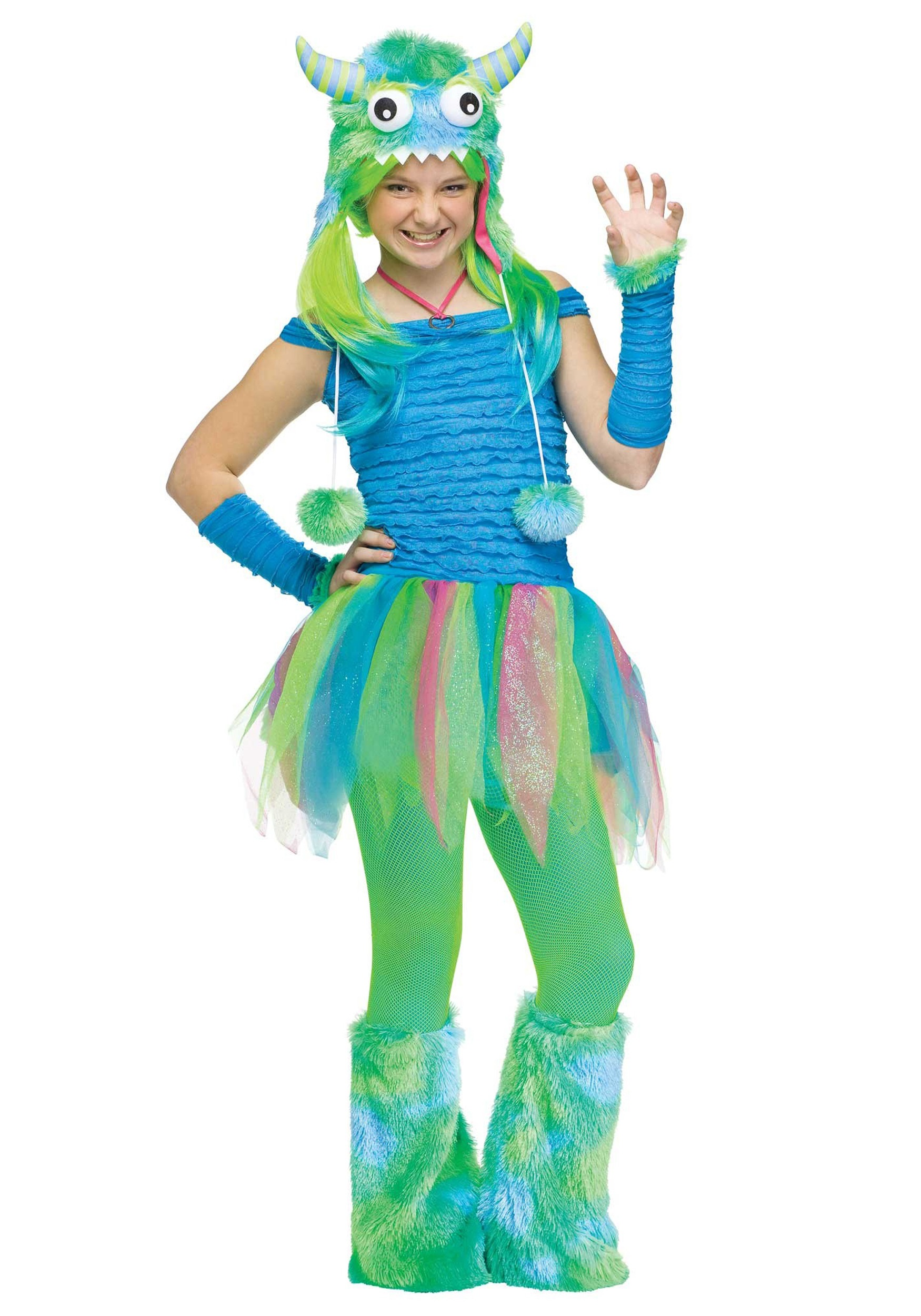 teen blue beastie monster costume - halloween costumes