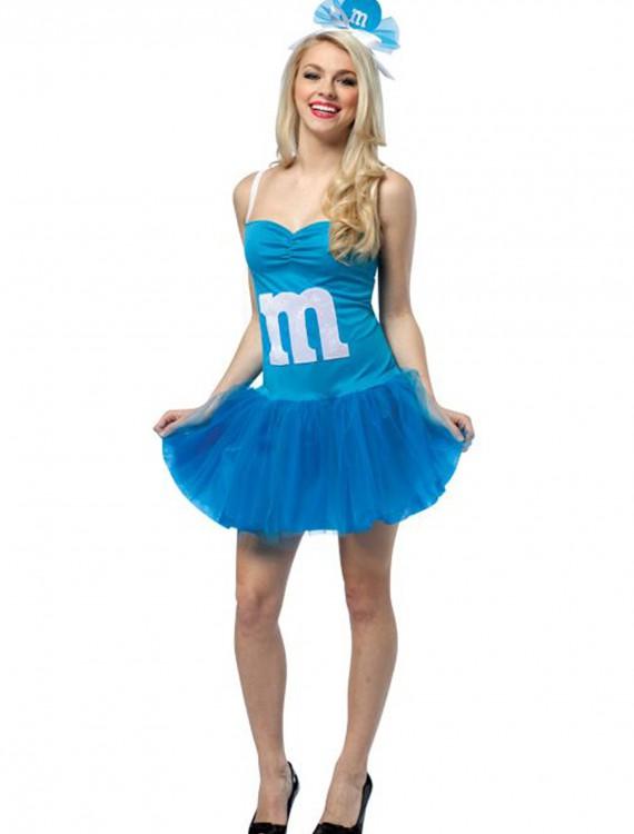 Teen Blue M&M Party Dress, halloween costume (Teen Blue M&M Party Dress)