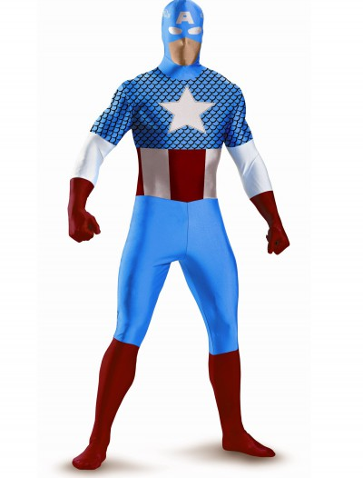 Teen Captain America Bodysuit Costume, halloween costume (Teen Captain America Bodysuit Costume)