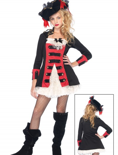 Teen Charming Pirate Captain Costume, halloween costume (Teen Charming Pirate Captain Costume)