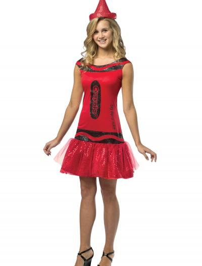 Teen Crayola Ruby Glitz Dress, halloween costume (Teen Crayola Ruby Glitz Dress)