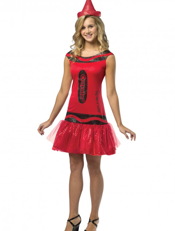 Teen Crayola Ruby Glitz Dress, halloween costume (Teen Crayola Ruby Glitz Dress)