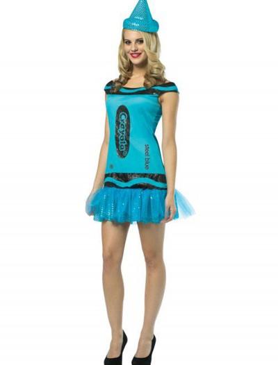 Teen Crayola Steel Blue Glitz Dress, halloween costume (Teen Crayola Steel Blue Glitz Dress)
