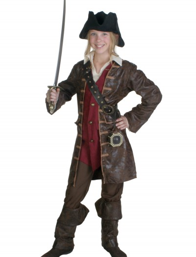 Teen Girls Caribbean Pirate Costume, halloween costume (Teen Girls Caribbean Pirate Costume)
