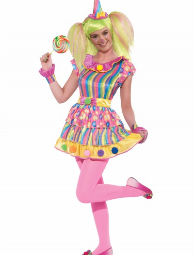 Teen Girls Polka Dot Clown Costume, halloween costume (Teen Girls Polka Dot Clown Costume)