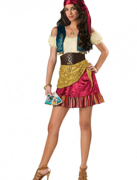 Teen Glamor Gypsy Costume, halloween costume (Teen Glamor Gypsy Costume)