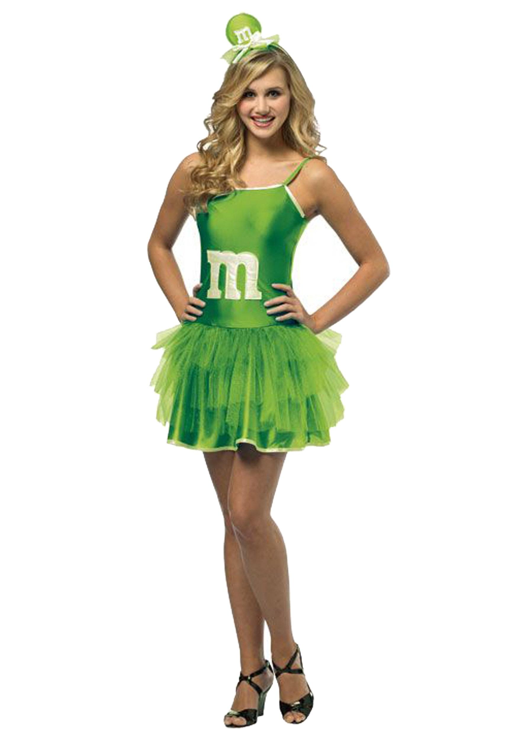 Teen Green Mu0026M Party Dress  sc 1 st  Halloween Costumes & Teen Green Mu0026M Party Dress - Halloween Costumes