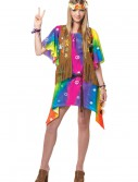 Teen Groovy Girl Hippie Costume, halloween costume (Teen Groovy Girl Hippie Costume)