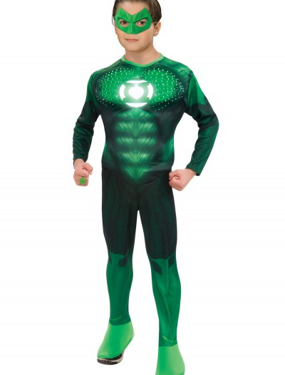 Teen Light Up Green Lantern Costume, halloween costume (Teen Light Up Green Lantern Costume)