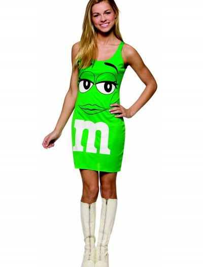 Teen M&M Green Tank Dress, halloween costume (Teen M&M Green Tank Dress)