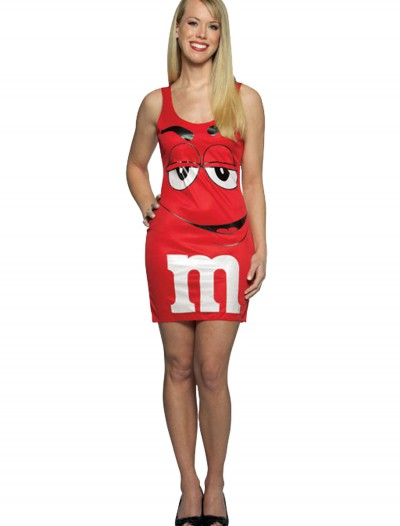 Teen M&M Red Tank Dress, halloween costume (Teen M&M Red Tank Dress)