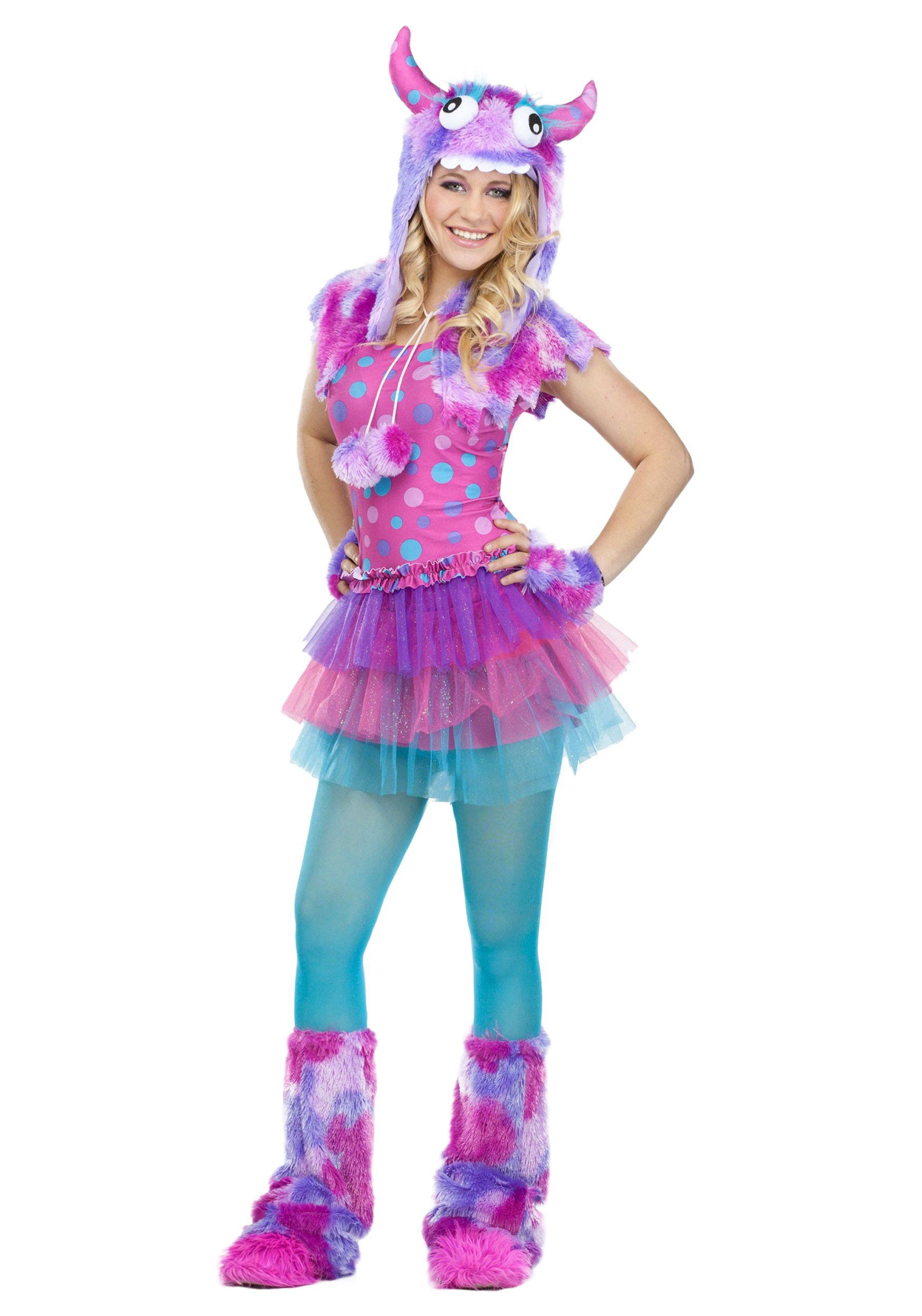 teen polka dot monster costume - halloween costumes
