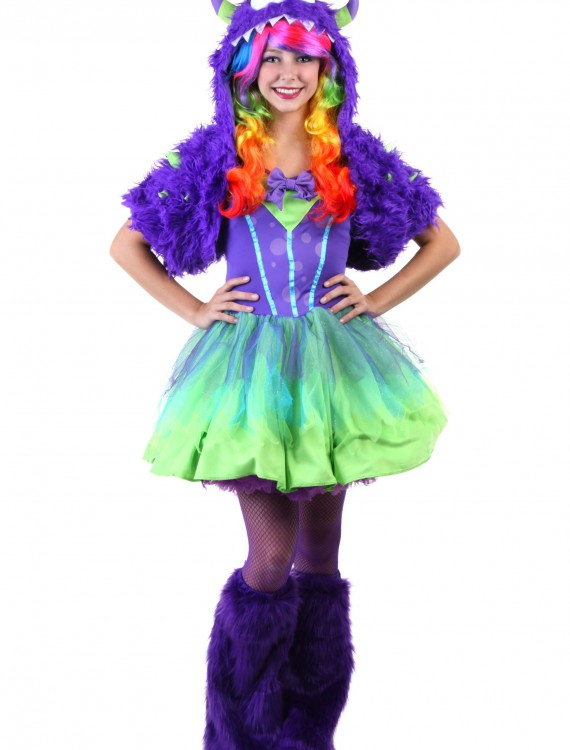 Teen Purple Posh Monster Costume, halloween costume (Teen Purple Posh Monster Costume)