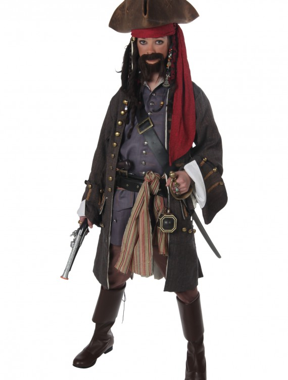 Teen Realistic Caribbean Pirate Costume, halloween costume (Teen Realistic Caribbean Pirate Costume)