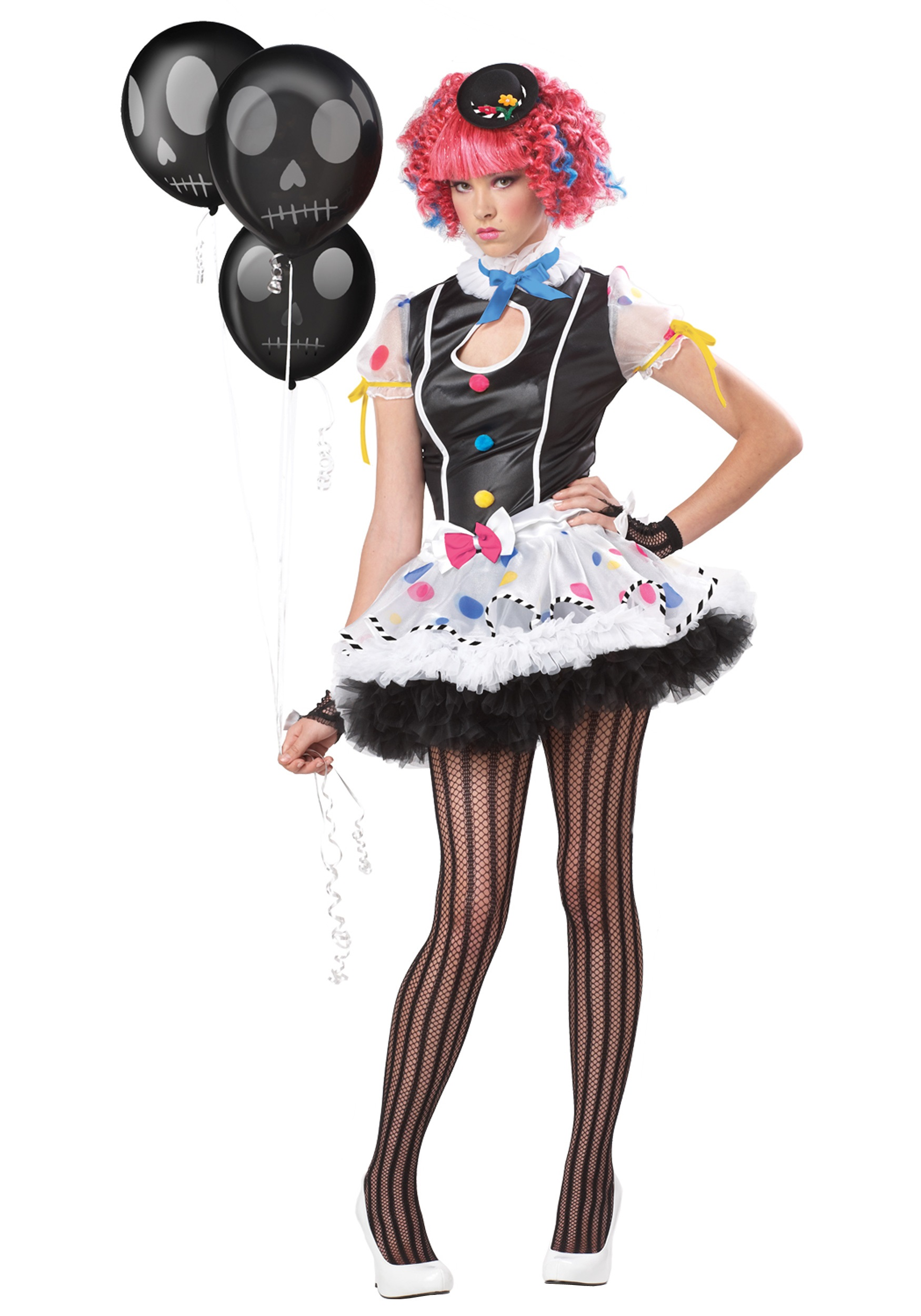 Teen Sassy Clown Costume - Halloween Costumes