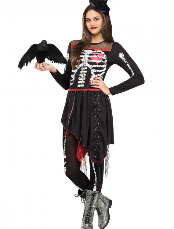 Teen Sassy Skelegirl Costume, halloween costume (Teen Sassy Skelegirl Costume)