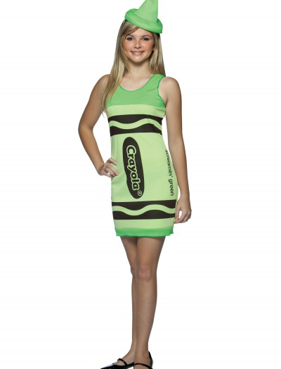 Teen Screamin' Green Crayon Dress, halloween costume (Teen Screamin' Green Crayon Dress)
