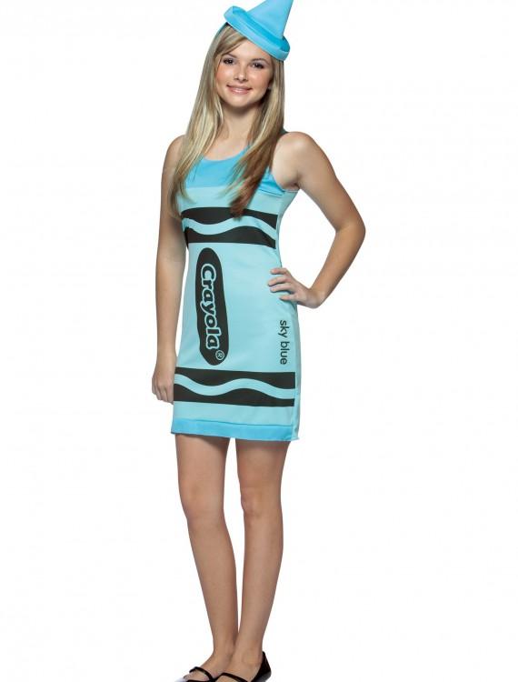 Teen Sky Blue Crayon Dress, halloween costume (Teen Sky Blue Crayon Dress)
