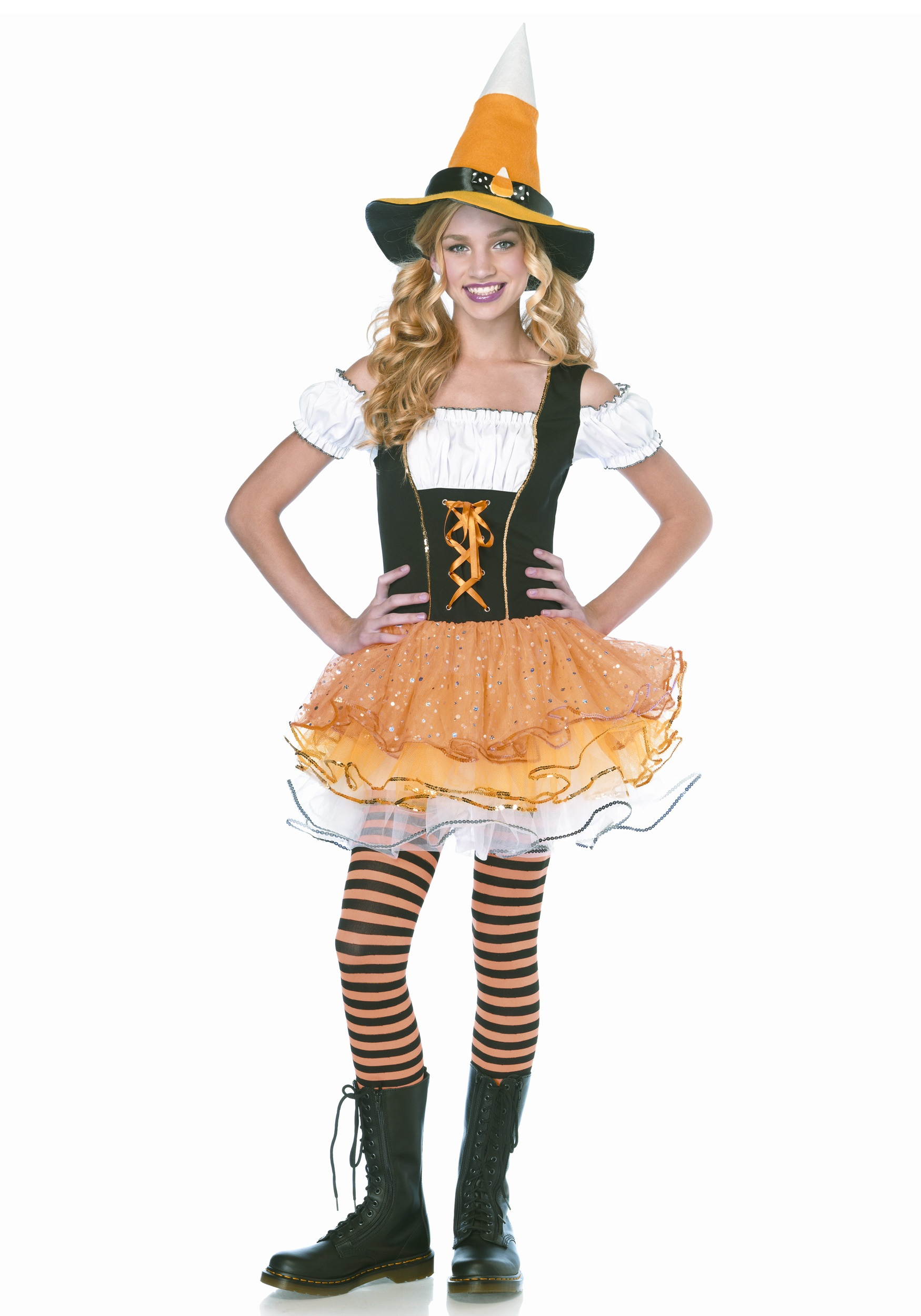 bd0356a5a7b Teen Sparkle Candy Witch Costume