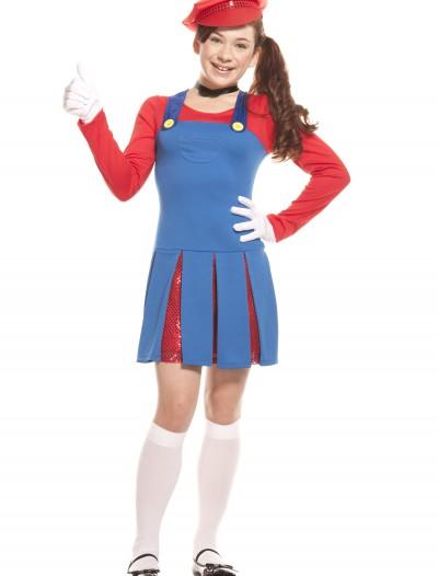 Teen Super Maria Costume, halloween costume (Teen Super Maria Costume)