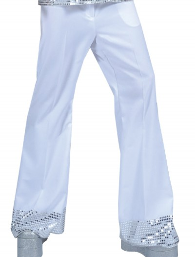 Teen White Sequin Cuff Disco Pants, halloween costume (Teen White Sequin Cuff Disco Pants)