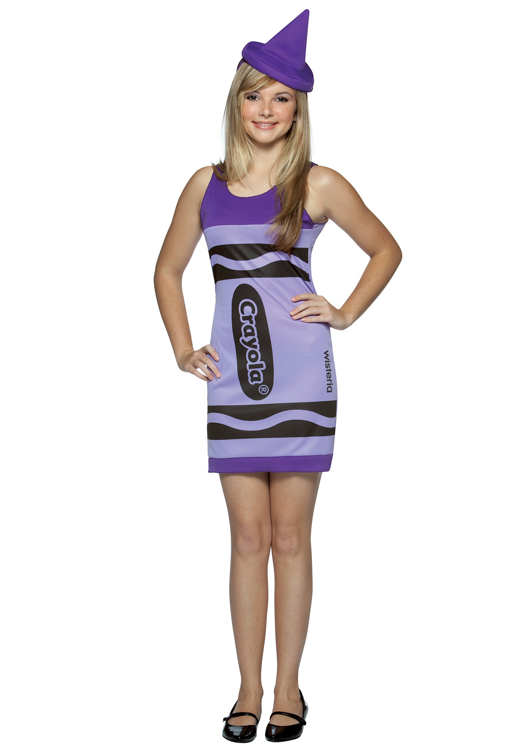 Halloween Costumes For Girls Age 13.Teen Wisteria Crayon Dress